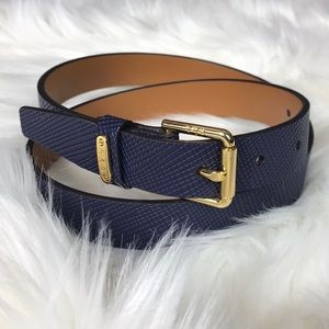Ralph Lauren indigo blue leather belt size medium